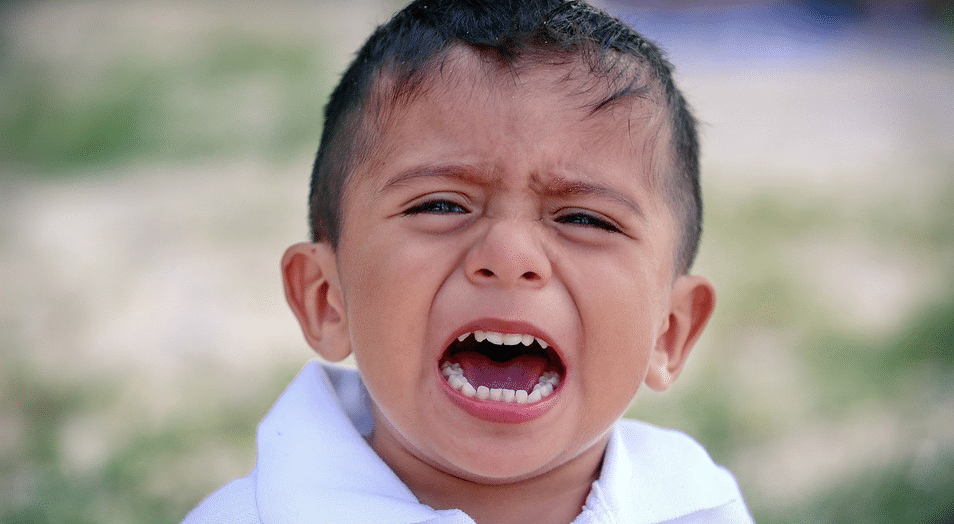 pianto nei bambini